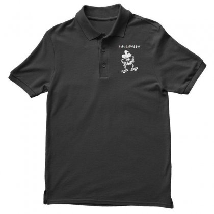 Funny  Mickey Mouse Skeleton Halloween For Dark Men's Polo Shirt Designed By Pinkanzee