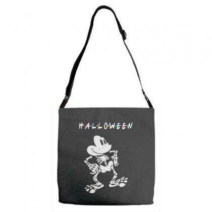 Funny  Mickey Mouse Skeleton Halloween For Dark Adjustable Strap Totes Designed By Pinkanzee
