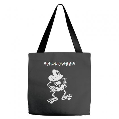 Funny  Mickey Mouse Skeleton Halloween For Dark Tote Bags Designed By Pinkanzee