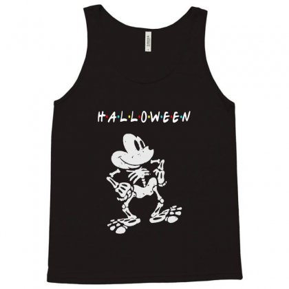 Funny  Mickey Mouse Skeleton Halloween For Dark Tank Top Designed By Pinkanzee
