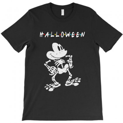 Funny  Mickey Mouse Skeleton Halloween For Dark T-shirt Designed By Pinkanzee