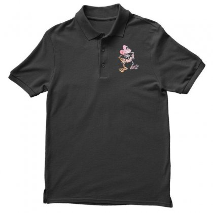 Funny  Mickey Mouse Colourfull Skeleton Halloween Men's Polo Shirt Designed By Pinkanzee