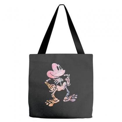 Funny  Mickey Mouse Colourfull Skeleton Halloween Tote Bags Designed By Pinkanzee