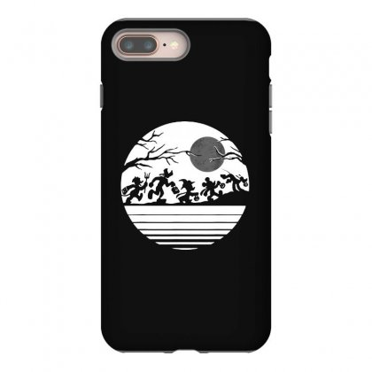 Funny  Mickey Mouse And Friends Trick Or Treat Halloween Walk Under Th Iphone 8 Plus Case Designed By Pinkanzee