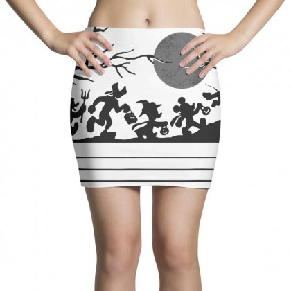 Funny  Mickey Mouse And Friends Trick Or Treat Halloween Walk Under Th Mini Skirts Designed By Pinkanzee