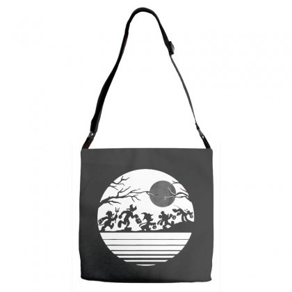 Funny  Mickey Mouse And Friends Trick Or Treat Halloween Walk Under Th Adjustable Strap Totes Designed By Pinkanzee