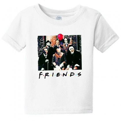 Friends Spooky Clown Jason Squad Halloween Horror For Light Baby Tee Designed By Pinkanzee