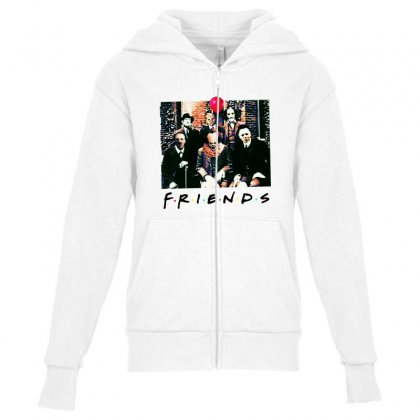 Friends Spooky Clown Jason Squad Halloween Horror For Light Youth Zipper Hoodie Designed By Pinkanzee