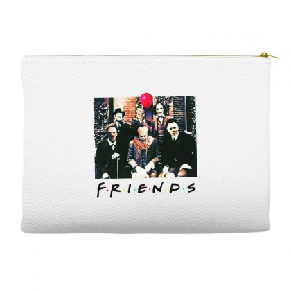 Friends Spooky Clown Jason Squad Halloween Horror For Light Accessory Pouches Designed By Pinkanzee