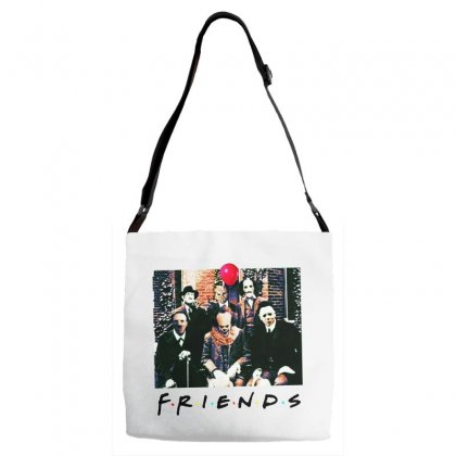 Friends Spooky Clown Jason Squad Halloween Horror For Light Adjustable Strap Totes Designed By Pinkanzee