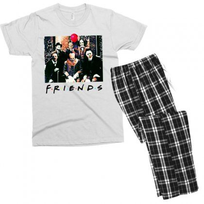 Friends Spooky Clown Jason Squad Halloween Horror For Light Men's T-shirt Pajama Set Designed By Pinkanzee