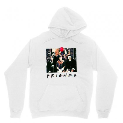Friends Spooky Clown Jason Squad Halloween Horror For Light Unisex Hoodie Designed By Pinkanzee