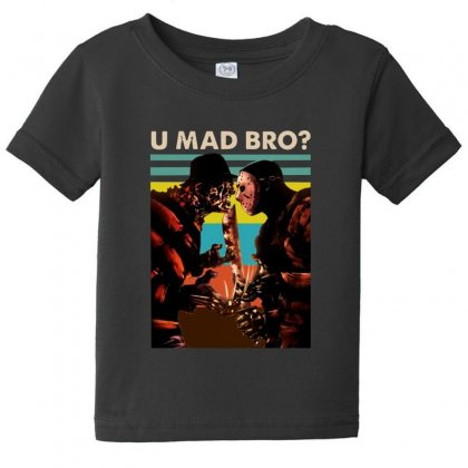 Freddy Krueger And Jason Voorhees U Mad Bro Funny Halloween Baby Tee Designed By Pinkanzee