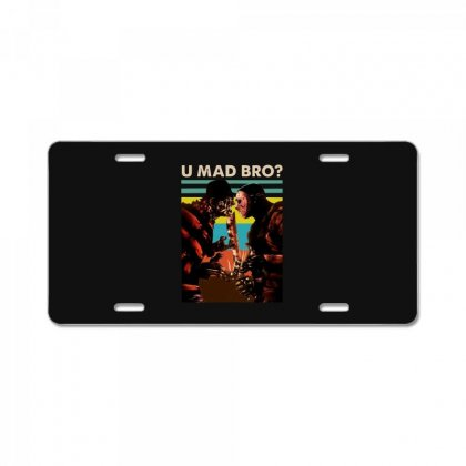 Freddy Krueger And Jason Voorhees U Mad Bro Funny Halloween License Plate Designed By Pinkanzee
