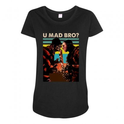 Freddy Krueger And Jason Voorhees U Mad Bro Funny Halloween Maternity Scoop Neck T-shirt Designed By Pinkanzee