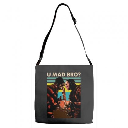 Freddy Krueger And Jason Voorhees U Mad Bro Funny Halloween Adjustable Strap Totes Designed By Pinkanzee
