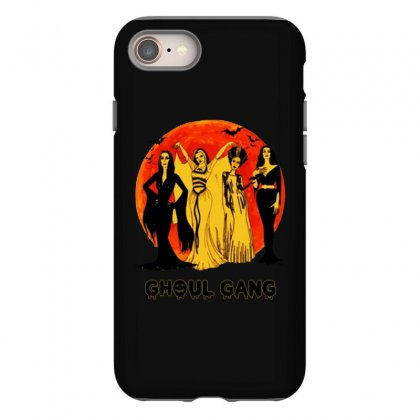 Elvira, Morticia, Lily, Bride Ghoul Gang Halloween Classic Iphone 8 Case Designed By Pinkanzee