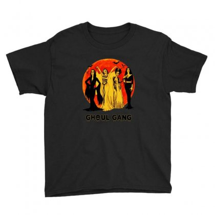 Elvira, Morticia, Lily, Bride Ghoul Gang Halloween Classic Youth Tee Designed By Pinkanzee