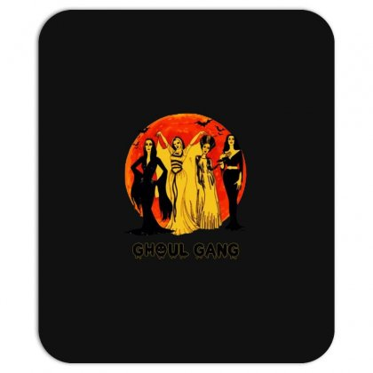 Elvira, Morticia, Lily, Bride Ghoul Gang Halloween Classic Mousepad Designed By Pinkanzee