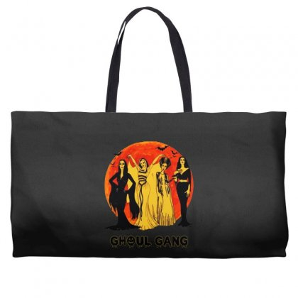 Elvira, Morticia, Lily, Bride Ghoul Gang Halloween Classic Weekender Totes Designed By Pinkanzee
