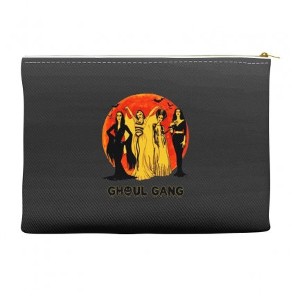 Elvira, Morticia, Lily, Bride Ghoul Gang Halloween Classic Accessory Pouches Designed By Pinkanzee