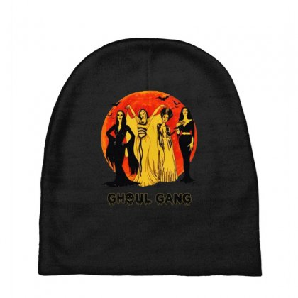 Elvira, Morticia, Lily, Bride Ghoul Gang Halloween Classic Baby Beanies Designed By Pinkanzee