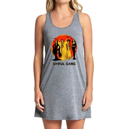 Elvira, Morticia, Lily, Bride Ghoul Gang Halloween Classic Tank Dress Designed By Pinkanzee