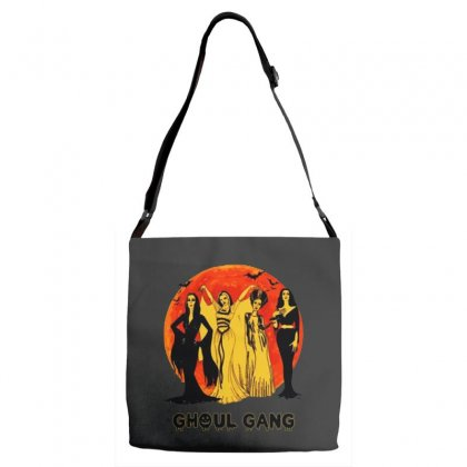 Elvira, Morticia, Lily, Bride Ghoul Gang Halloween Classic Adjustable Strap Totes Designed By Pinkanzee