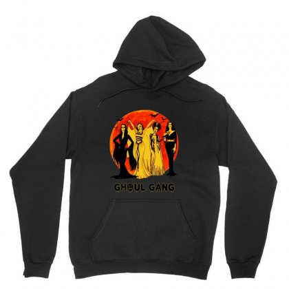 Elvira, Morticia, Lily, Bride Ghoul Gang Halloween Classic Unisex Hoodie Designed By Pinkanzee
