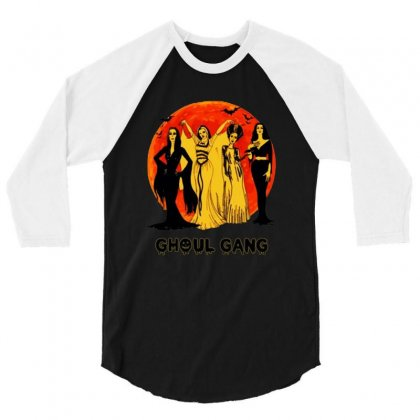 Elvira, Morticia, Lily, Bride Ghoul Gang Halloween Classic 3/4 Sleeve Shirt Designed By Pinkanzee