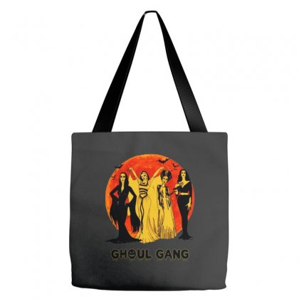 Elvira, Morticia, Lily, Bride Ghoul Gang Halloween Classic Tote Bags Designed By Pinkanzee
