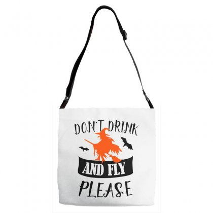 Don't Drink And Fly Please Halloween For Light Adjustable Strap Totes Designed By Pinkanzee