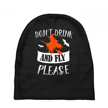 Don't Drink And Fly Please Halloween For Dark Baby Beanies Designed By Pinkanzee
