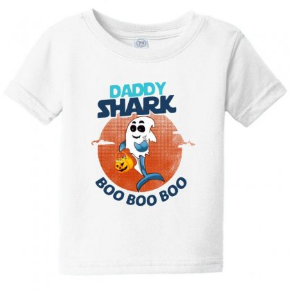 Daddy Shark Boo Boo Boo Shark Ghost Halloween Baby Tee Designed By Pinkanzee