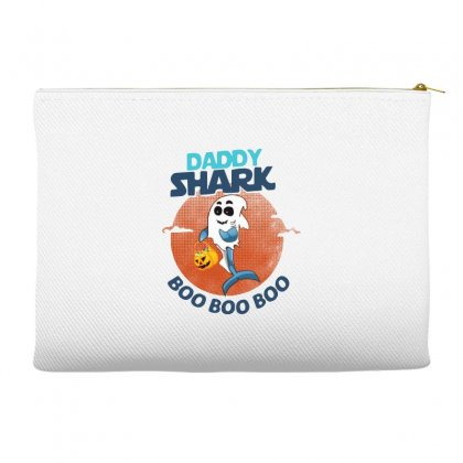 Daddy Shark Boo Boo Boo Shark Ghost Halloween Accessory Pouches Designed By Pinkanzee