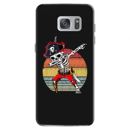 Dabbing Skeleton Pirate Halloween Jolly Roger Samsung Galaxy S7 Case Designed By Pinkanzee
