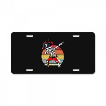 Dabbing Skeleton Pirate Halloween Jolly Roger License Plate Designed By Pinkanzee