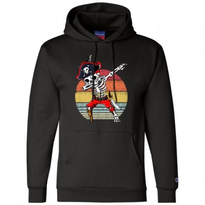 Dabbing Skeleton Pirate Halloween Jolly Roger Champion Hoodie Designed By Pinkanzee
