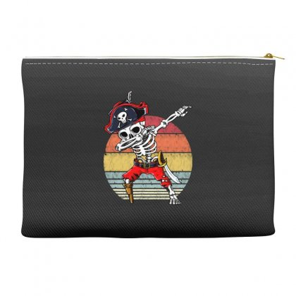 Dabbing Skeleton Pirate Halloween Jolly Roger Accessory Pouches Designed By Pinkanzee