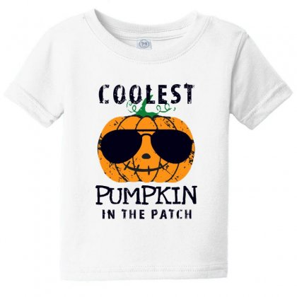 Coolest Pumpkin In The Patch Funny Halloween Baby Tee Designed By Pinkanzee