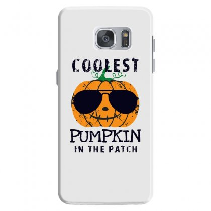 Coolest Pumpkin In The Patch Funny Halloween Samsung Galaxy S7 Case Designed By Pinkanzee