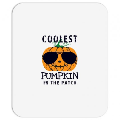 Coolest Pumpkin In The Patch Funny Halloween Mousepad Designed By Pinkanzee