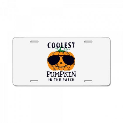 Coolest Pumpkin In The Patch Funny Halloween License Plate Designed By Pinkanzee