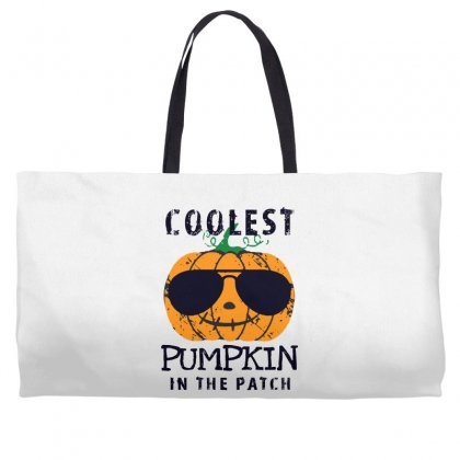 Coolest Pumpkin In The Patch Funny Halloween Weekender Totes Designed By Pinkanzee
