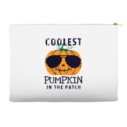 Coolest Pumpkin In The Patch Funny Halloween Accessory Pouches Designed By Pinkanzee