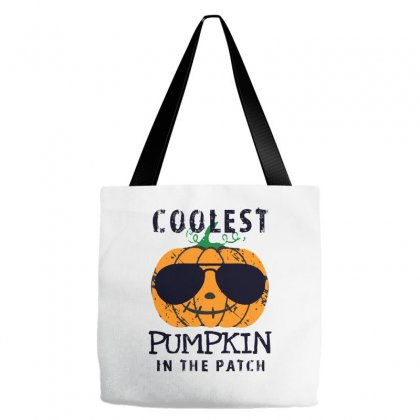 Coolest Pumpkin In The Patch Funny Halloween Tote Bags Designed By Pinkanzee