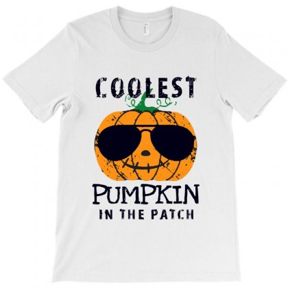 Coolest Pumpkin In The Patch Funny Halloween T-shirt Designed By Pinkanzee