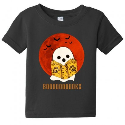 Boo Read Books Fuuny Halloween Boo Baby Tee Designed By Pinkanzee
