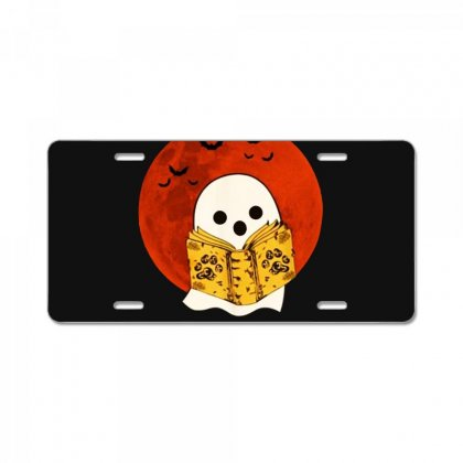 Boo Read Books Fuuny Halloween Boo License Plate Designed By Pinkanzee