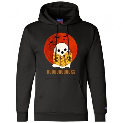 Boo Read Books Fuuny Halloween Boo Champion Hoodie Designed By Pinkanzee